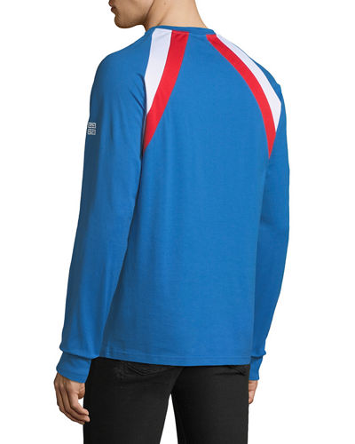 Men's Colorblock Long-Sleeve T-Shirt