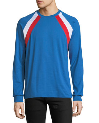 Givenchy Men's Colorblock Long-Sleeve T-Shirt