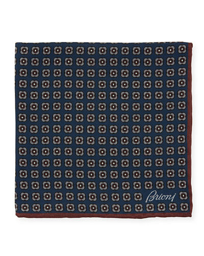 Men's Woven Floral Pocket Square