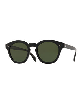 Oliver Peoples Men's Row Boudereau LA Round Acetate