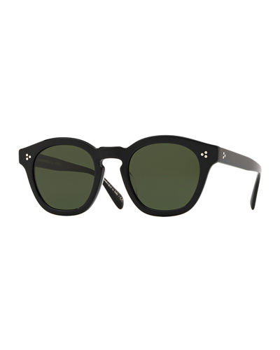 Men's Row Boudereau LA Round Acetate Sunglasses