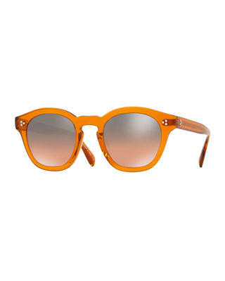 OLIVER PEOPLES Boudreau L.A. 48Mm Round Sunglasses - Smoked Topaz