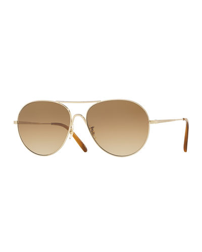 Men's Row Rockmore Aviator Acetate Sunglasses