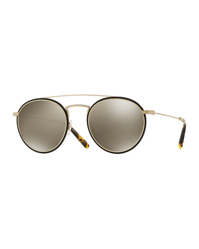 Men's Row Ellice Round Metal/Acetate Sunglasses