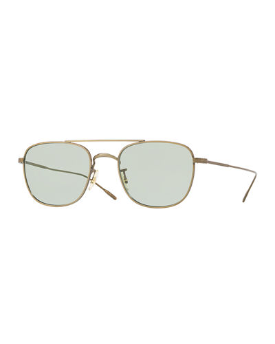 Men's Row Kress Square Metal Sunglasses
