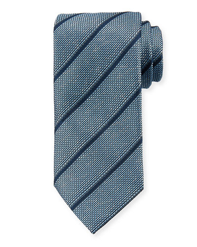 Textured Striped Silk Tie