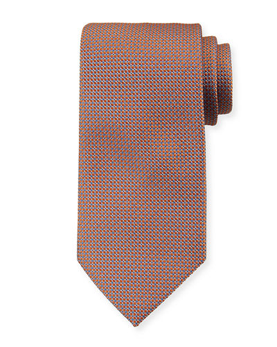 Brioni Micro-Diamonds Silk Tie