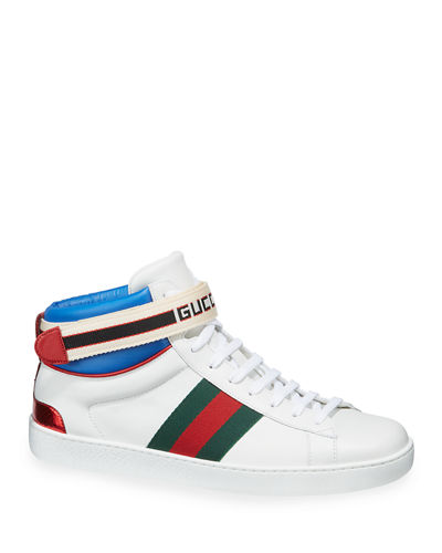98176699a6a0 Quick Look. Gucci · Gucci Stripe Ace High-Top Sneaker