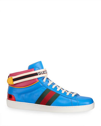 Gucci Stripe Ace High-Top Sneaker