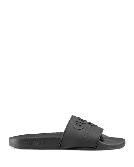 9a47c0be3 Image 2 of 3  Gucci Logo Rubber Slide Sandal
