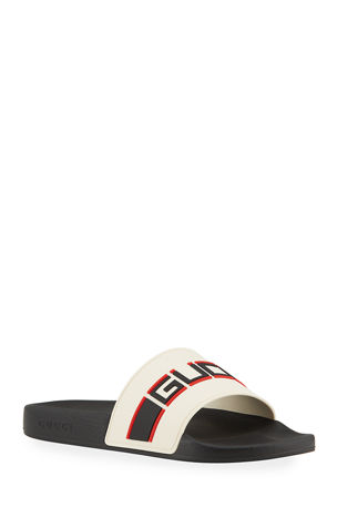 Gucci Gucci Stripe Rubber Slide Sandal