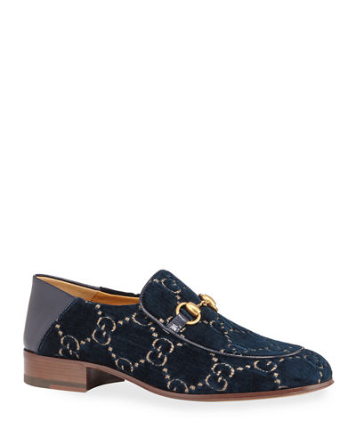 Horsebit GG Velvet Loafer