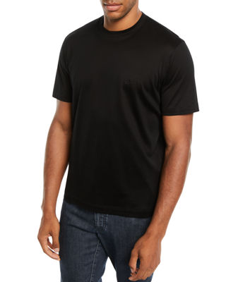 Brioni Men's Solid Cotton T-Shirt