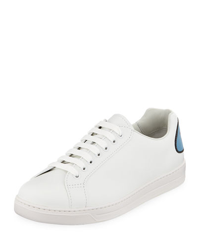 Men's Avenue Bubble-Patch Leather Low-Top Sneakers