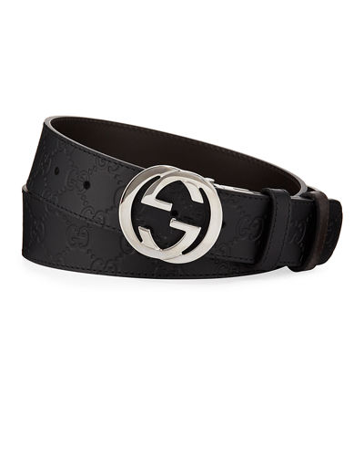 Men's Reversible GG Belt