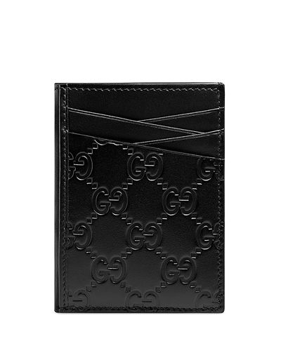 Men's GG Signature Leather Card Case