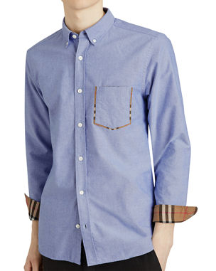 9868baee259 Men s Casual Button-Down Shirts at Neiman Marcus