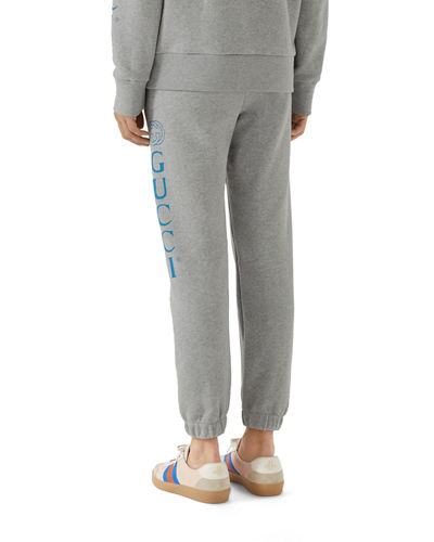 Men's Drawstring Sweatpants with Logo Print