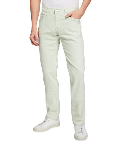 Men's Kane Straight-Leg Lightweight Cotton-Linen Pants