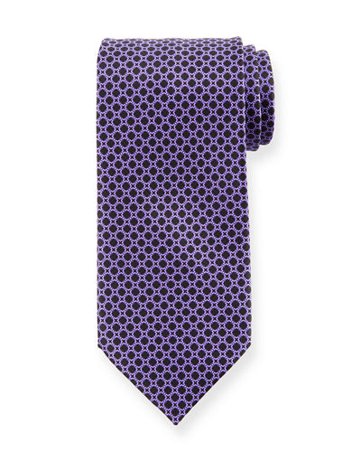 Medium-Square Printed Silk Tie