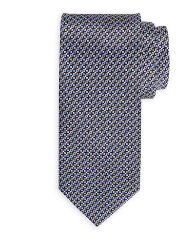 Small Horizontal Flower Silk Tie