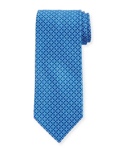 Small-Diamond Silk Tie