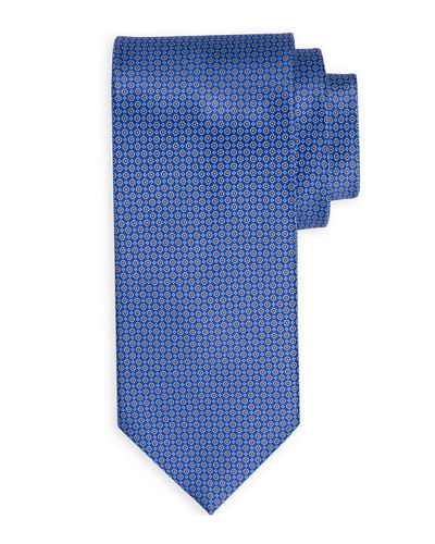 Small-Flower Patterned Silk Tie
