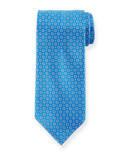Medium-Circle Silk Tie