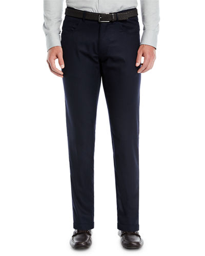 Men's Alpine Flannel Wool Five-Pocket Straight-Leg Pants
