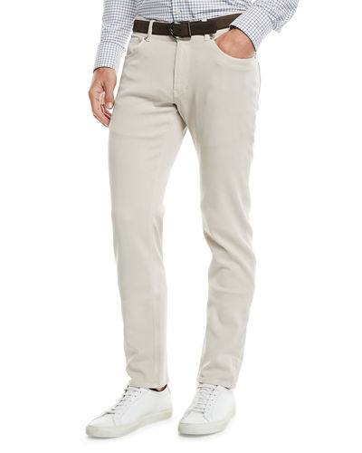 Peter Millar Men's Wayfare Knit Five-Pocket Straight-Leg Pants