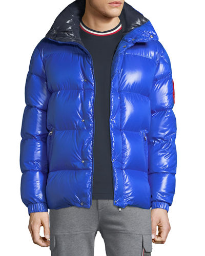 Men's Moncler Genius Dervaux Puffer Coat w/ Tuck-Away Hood