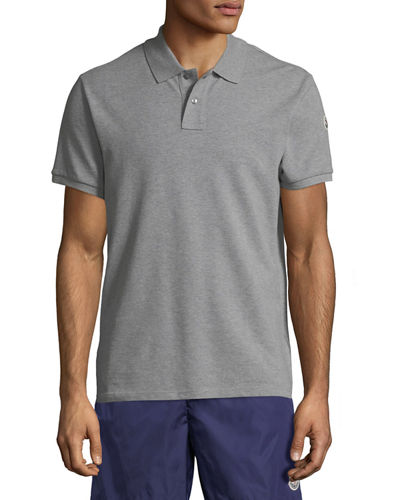 Men's Striped-Neck Polo Shirt