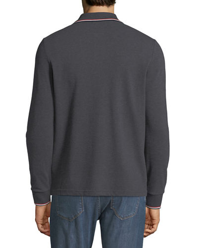 Moncler Men's Long-Sleeve Polo Sweater