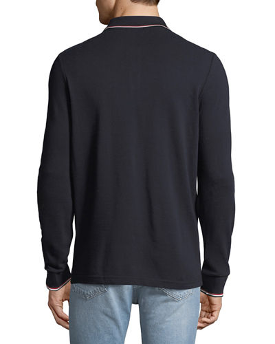 Men's Long-Sleeve Polo Sweater