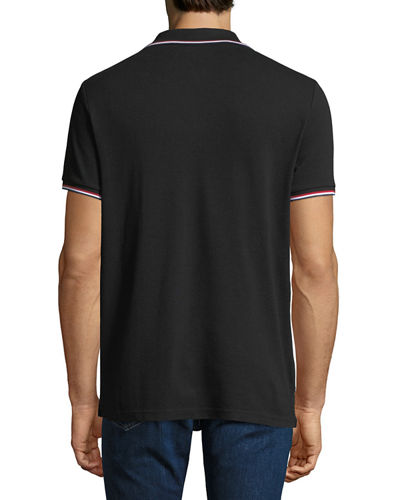Men's Striped-Trim Polo Shirt