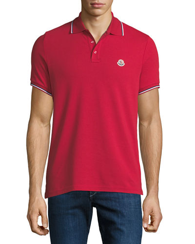 6d5ed7388 Quick Look. Moncler · Men's Striped-Trim Polo Shirt