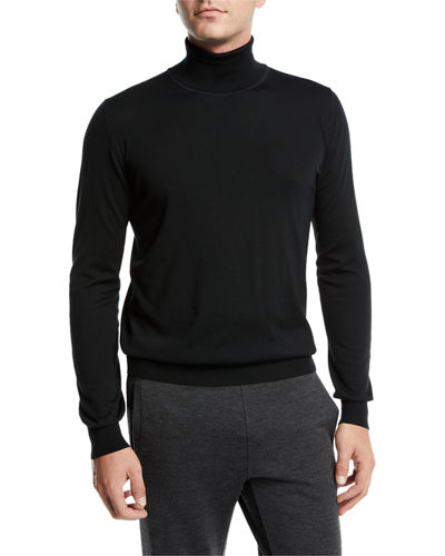 Men's Wool Turtleneck Pullover Sweater