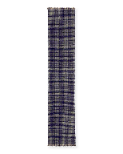 Men's Houndstooth Cashmere Scarf