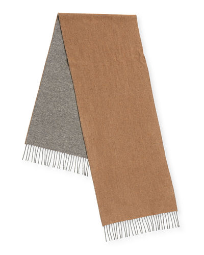 Men's Reversible Cashmere Scarf