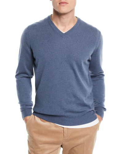 Brunello Cucinelli Basic Cashmere V-Neck Sweater