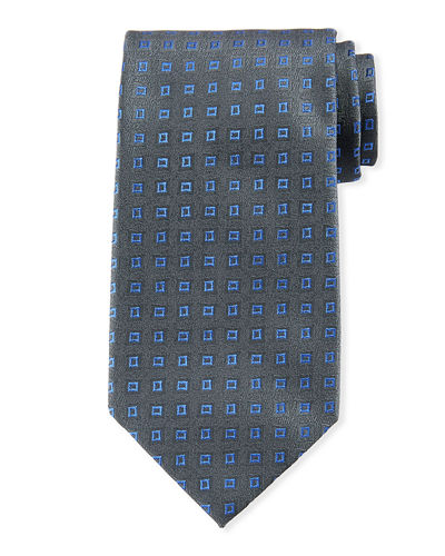 Floating Squares Silk Tie