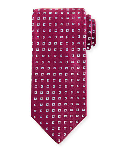 Charvet Floating Squares Silk Tie
