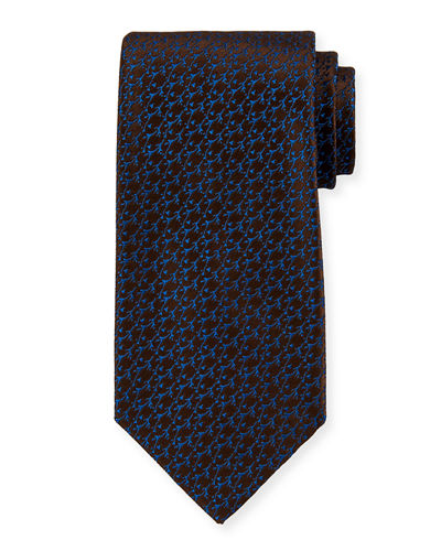 Charvet Thorns Pattern Silk Tie