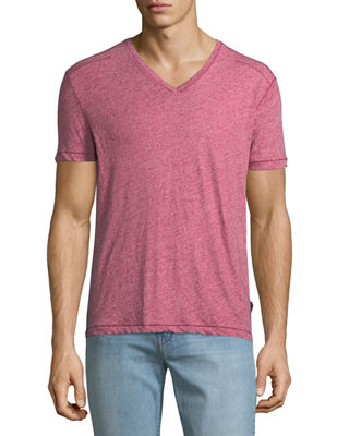 John Varvatos Star USA Men's V-Neck Heathered T-Shirt