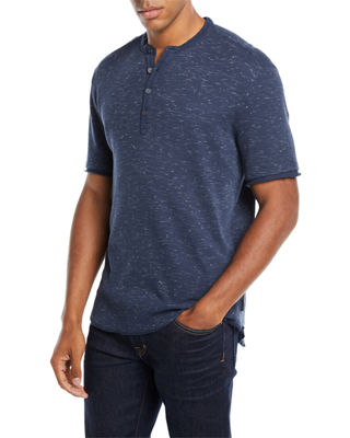 John Varvatos Star USA Men's Space-Dyed Waffle-Knit Henley