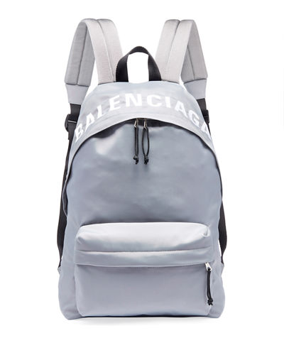 Men's Wheel Logo-Print Backpack