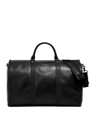 Men's Smooth Leather Garment Duffel Bag Carryon Luggage