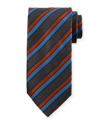 Four Stripe Silk Tie