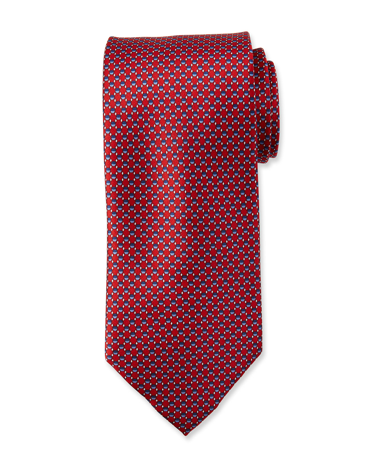 Hexagons Silk Tie