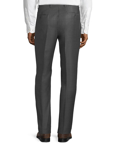 Men's Sharkskin Wool Dress Pants